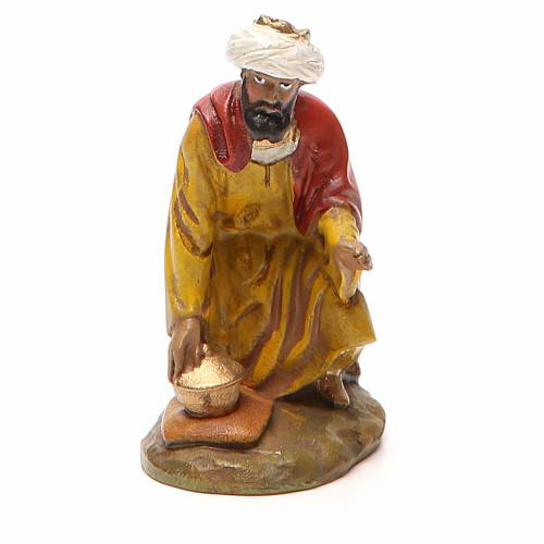 Roi Mage Gaspard résine peinte 10 cm gamme M. Landi s1