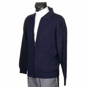 Pullover: Rollkragen Jacke Blau