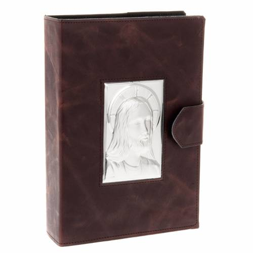 Roman Missal cover, silver and leather s1