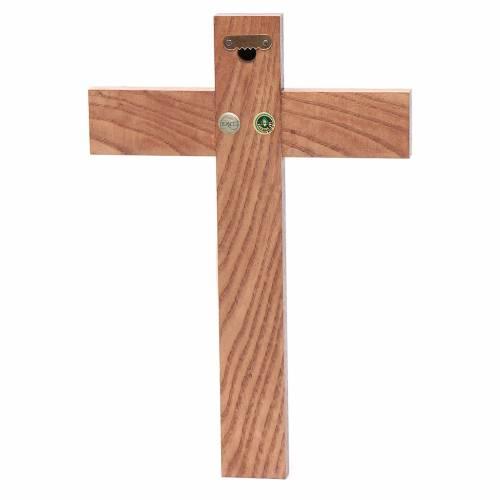 Romanesque crucifix, natural wax Valgardena wood 25cm s4