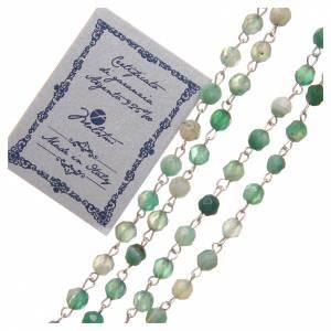 Rosario agata brasiliana sfaccettata argento 925 4 mm verde s3