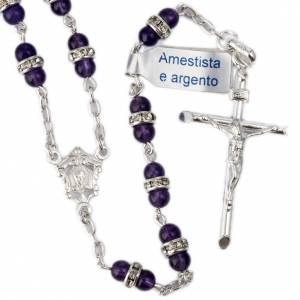 Rosari argento: Rosario Ametista e argento 800