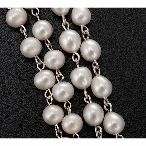 Rosario argento 800 perle di fiume s3