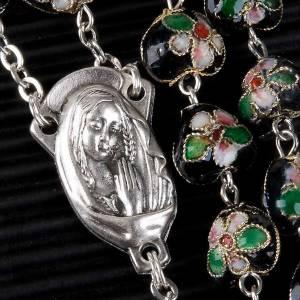 Rosari cloisonnè: STOCK Rosario cloisonnè cuore nero 10 mm