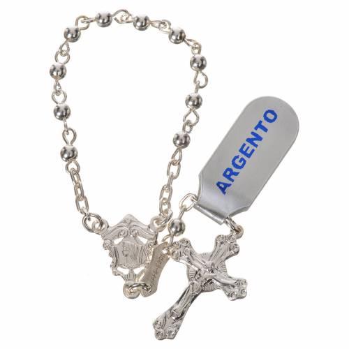 Rosario decina in argento 800 lucido s1
