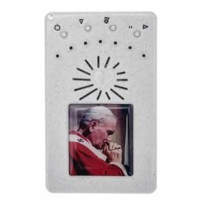 Rosario Elettronico bianco G. Paolo II Litanie Lauretane s1