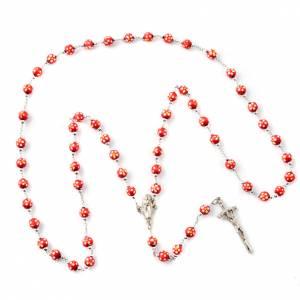 Rosari legno: Rosario legno colorato fiorellini