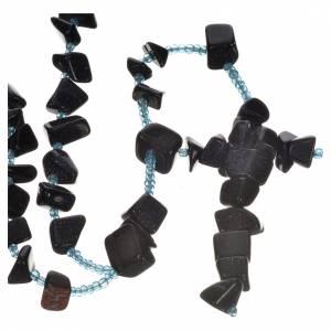Rosari portarosari Medjugorje: Rosario Medjugorje pietra dura nera