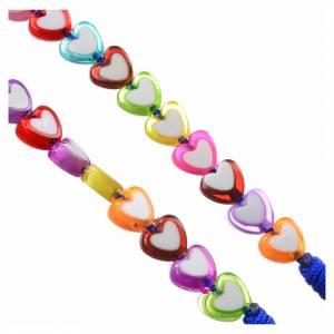 Rosari portarosari Medjugorje: Rosario Medjugorje vetro cuori colorati