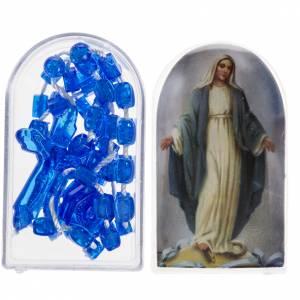 Rosario Nylon azul abre y cierra con cajita s1