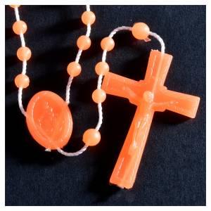 Rosarios económicos: Rosario nylon Flourescente naranja