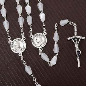 Rosarios símil perla: Rosario símil madreperla gota