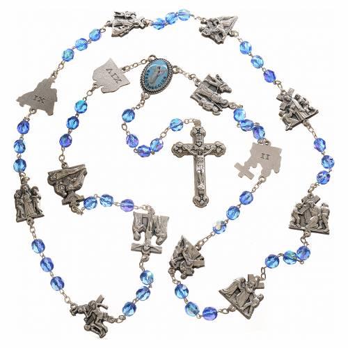 Rosario Vía Crucis azul claro STOCK s4