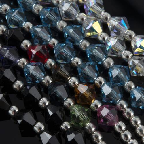 Rosary, 800 silver and swarovski, 4 colors s5