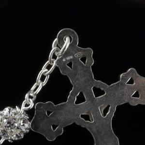 Rosary, 800 silver and swarovski, 6mm s3