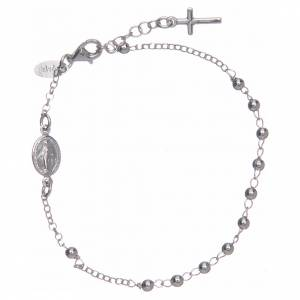 Rosary AMEN Bracelet Charm Cross silver 925, Rhodium finish s1