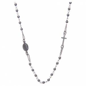 Rosary AMEN Necklace silver 925 Rhodium finish s2
