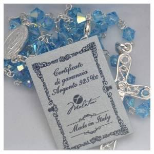 Rosary beads in silver and Swarovski 0,2in aqua s5