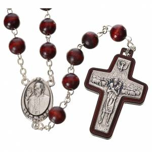 Wood rosaries: Rosary beads in wood, Pope Francis