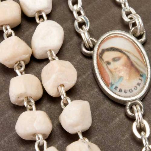 Rosary beads Medjugorje stone Mary and Jesus s3