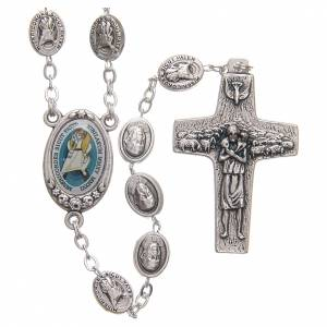 Metal rosaries: STOCK Rosary beads with Jubilee of Mercy symbol