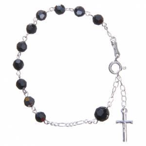 Rosary bracelet with black Swarowski crystals 6mm s2