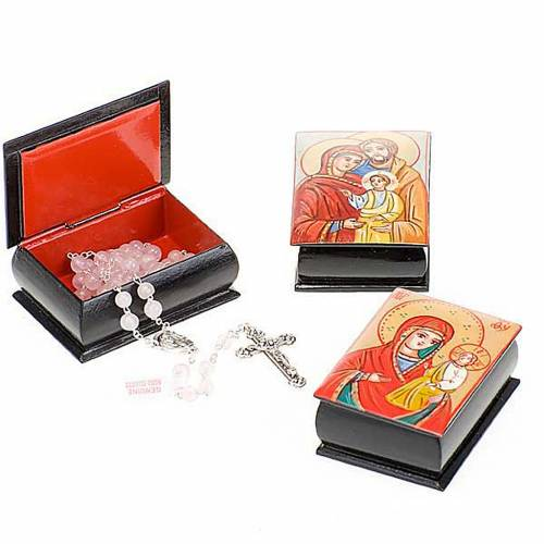 Rosary case (7mm beads) with hand-painted icon s1