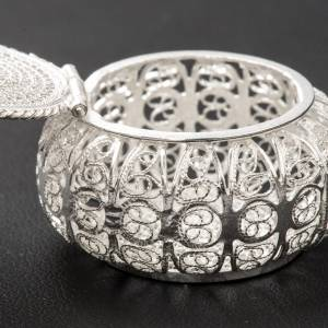 Rosary case, round in 800 silver filigree s4