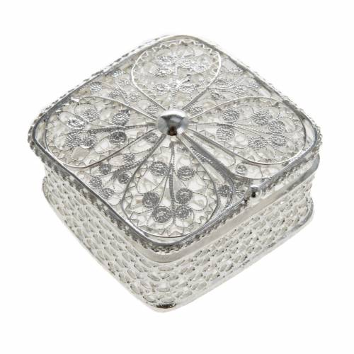 Rosary case, squared in 800 silver s1