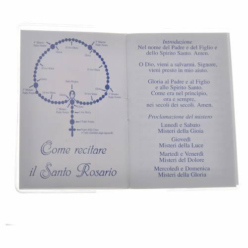 Rosary Leaflet St John Paul II image 6,5x9,5cm s2