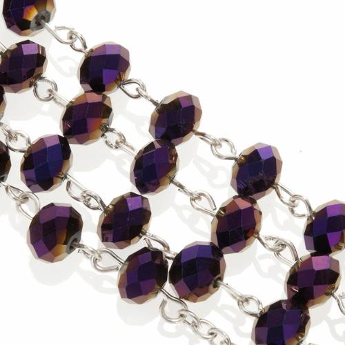 Rosary with amethyst crystal 8x6mm s2