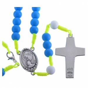 Besondere Rosenkränze: Rosenkranz aus blauem Fimo Papst Franziskus