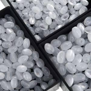 Eigenbau Rosenkränze: Rosenkranz oval Perlen weiß