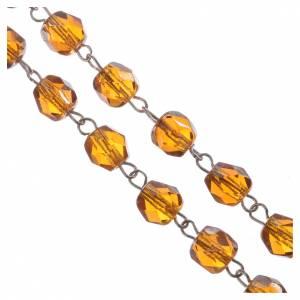 Glas Rosenkränze: Rosenkranz Semikristall Goldgelb 5 mm