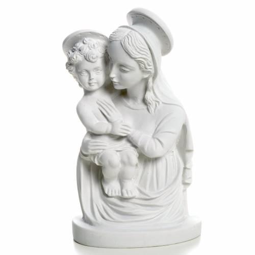 Rostro de la Virgen con el Niño 22 cm s1