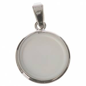 Round medal in silver, 18mm Divine Love s2