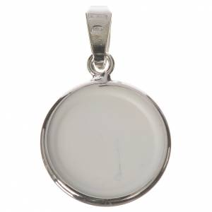 Round medal in silver, 18mm Our Lady of Tenderness s2
