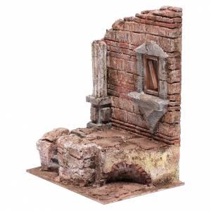 Rovine ingresso al tempio 25x20x15 cm presepe s2