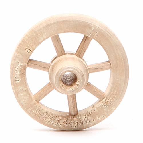 Ruota in legno diametro 4,5 cm s1
