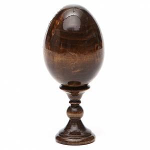 Russian painted eggs: Russian Egg Our Lady of Lourdes découpage 13cm