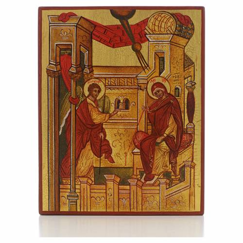 Russian icon, Annunciation of Rublev s1