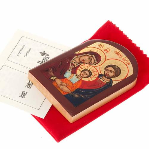 Russian icon, Holy Family 6x9 brown frame s2