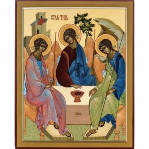 Russian icon, Rublev's Holy Trinity 31x26cm s1