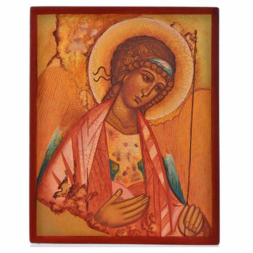 Russian icon, Saint Michael of Rublov 14x11cm s1