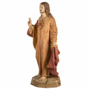 Sacré Coeur de Jésus 100 cm résine Fontanin s5