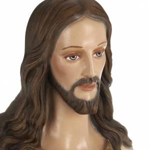 Sacré Coeur de Jésus marbre 80cm peint s2