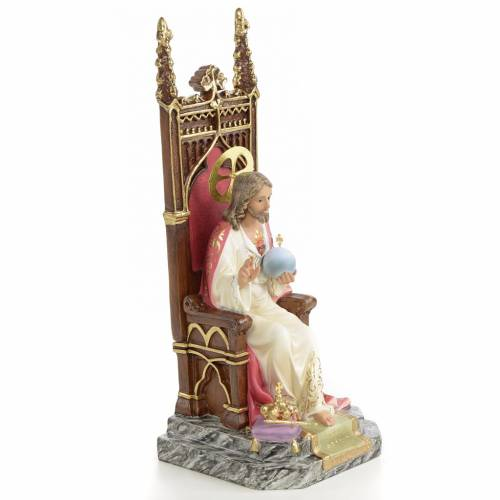 Sacred Heart of Jesus on Throne 25cm, fine finish s4