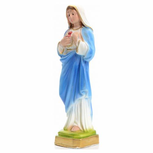 Sacred Heart of Mary statue in plaster 16cm s2
