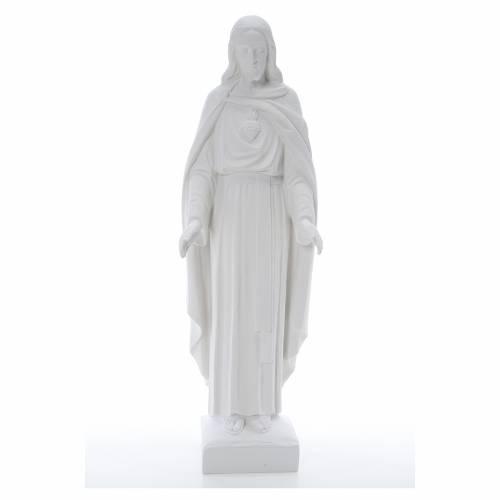 Sacro Cuore di Gesù 62 cm polvere di marmo s1