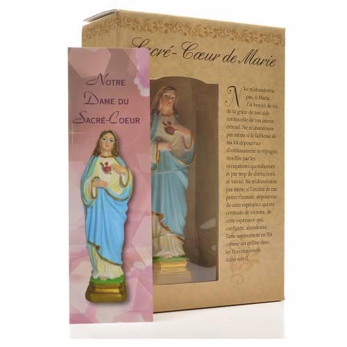 Sacro Cuore di Maria 12 cm con immaginetta PREGHIERA FRANCESE s3